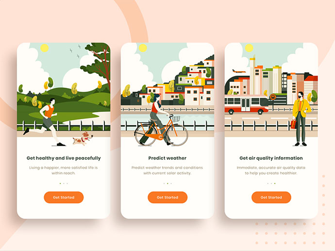 Onboarding Screen For Air Quality App
