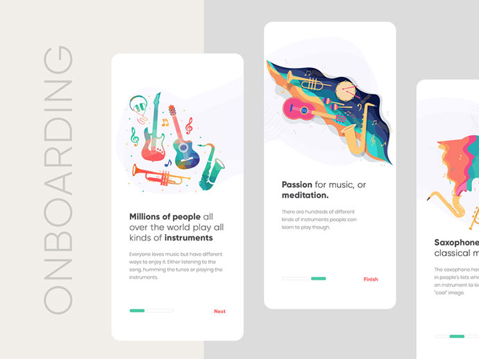 Music Onboarding Screen