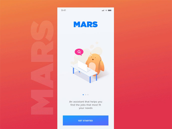Mars - Welcome Screen