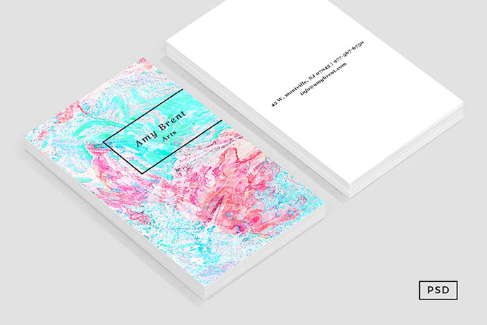 Paper Marble Pattern Business Card