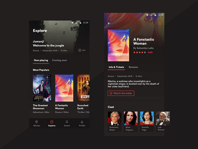 Movie App - Design Concept
