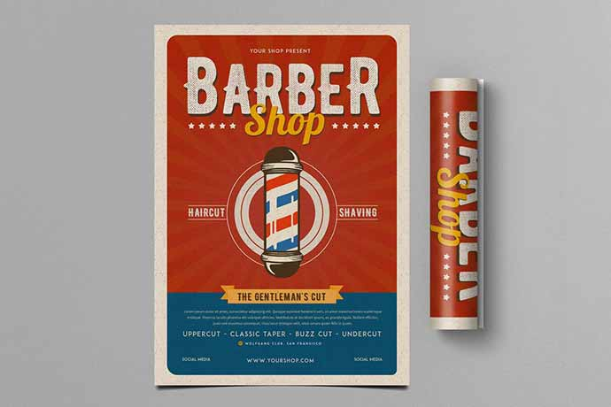 Retro Barbershop Flyer