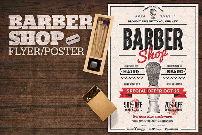 Barber Shop Flyer Poster