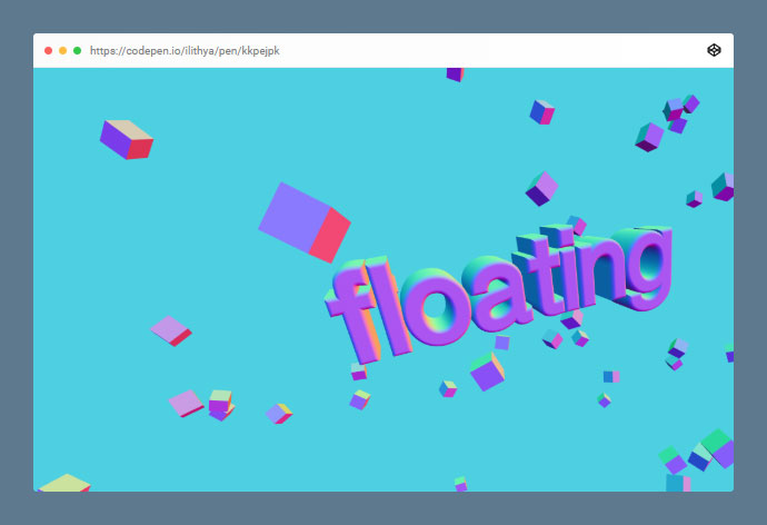 3d Floating Typo