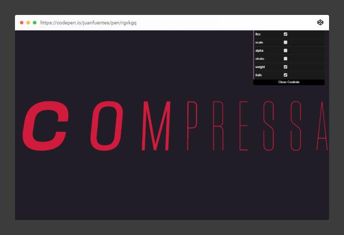 Variable Fonts | Compressa