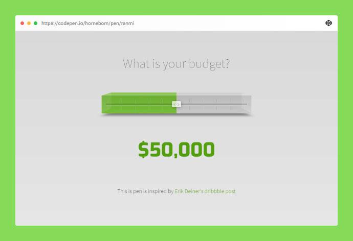 Budgetslider