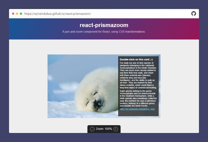 React Prismazoom