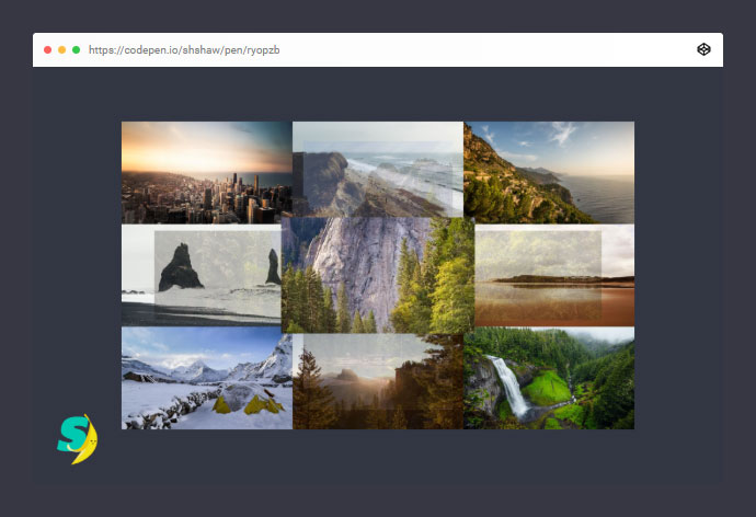 Splitting: Image Hover Gallery