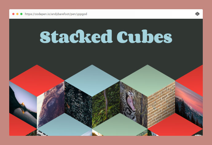 Responsive Stacked Cubes - CSS Grid