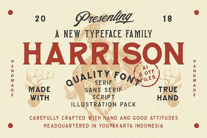 Harrison Font Family (Intro Sale)