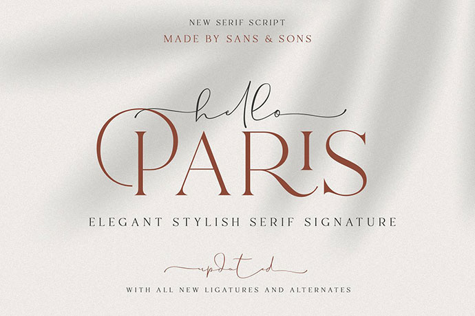 Hello Paris | Modern Paired Duo