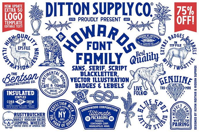 Howards Font Family + Extras