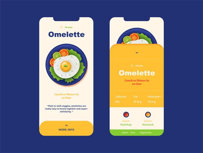Omelette - Mobile Design
