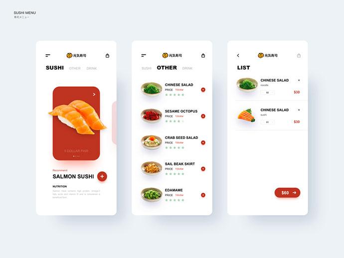 Sushi Ordering Interface