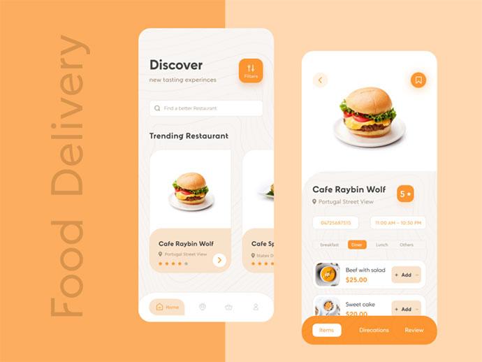 Food Delivery Ios App Ui