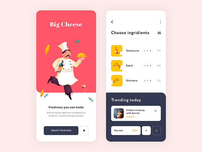 Mobile App - Big Cheese