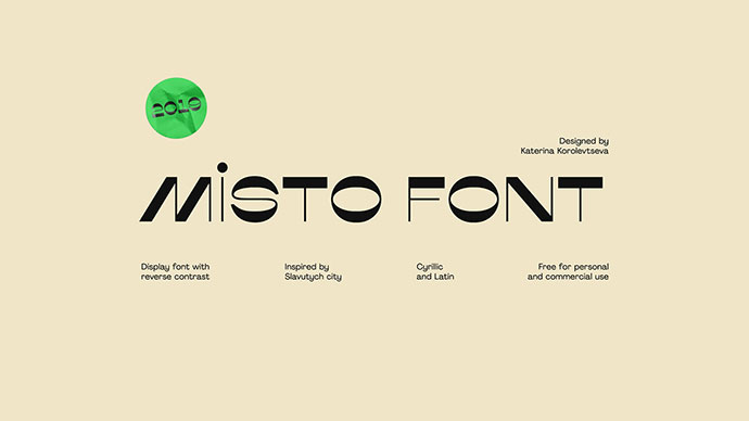 Misto Font — Free (Cyrillic And Latin)