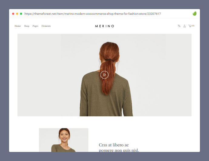 Merino | Modern WooCommerce shop theme for fashion store