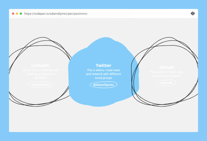 Social Card Hover 4