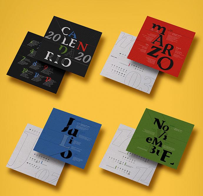 Calendar 2020 - Typography