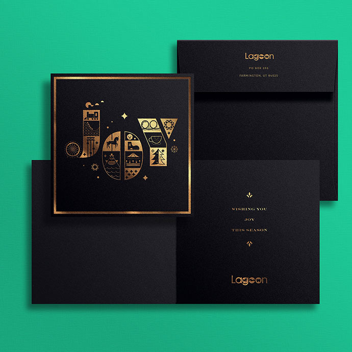 Lagoon Christmas Card