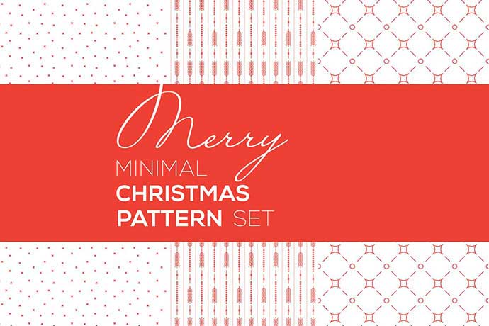 Merry Christmas Minimal Patterns