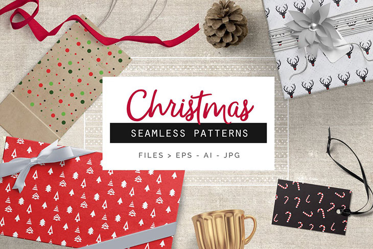 25 Wonderful Christmas Backgrounds, Patterns & Textures