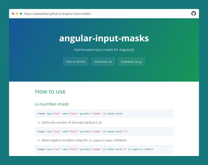 Angular Input Masks