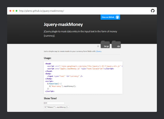 Jquery Maskmoney