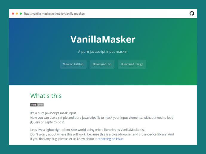 Vanilla Masker