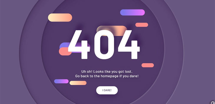 20 Cool CSS & Javascript Error 404 Page Examples