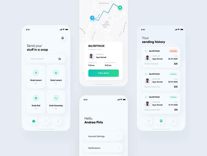Delivery App - Skeuomorph