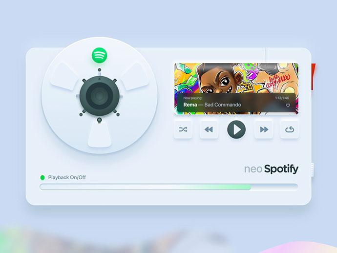 Neo Spotify Skeuomorphism