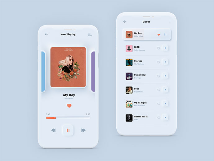 Music Player  - Soft Ui