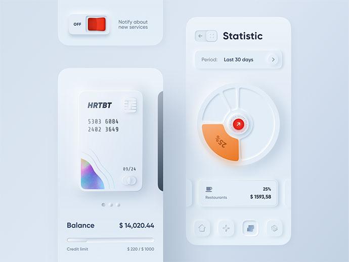 Skeuomorph Mobile Banking