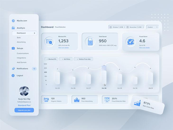 30 Cool Neumorphism UI Design Examples