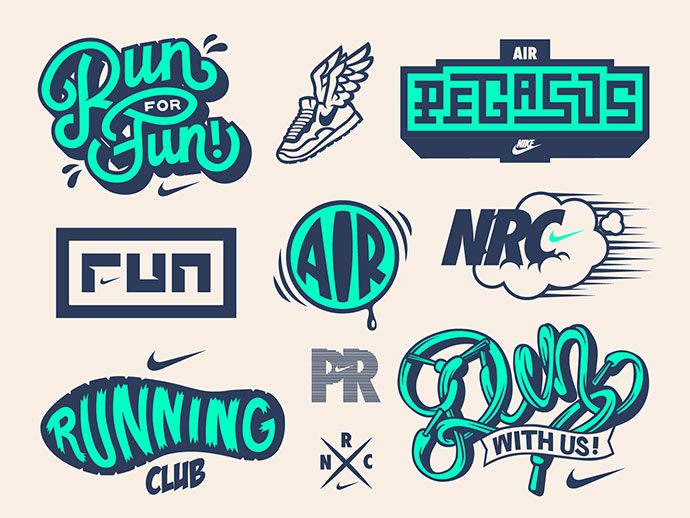 Dynamite! Crew | Nike Running Concept Vector Set
