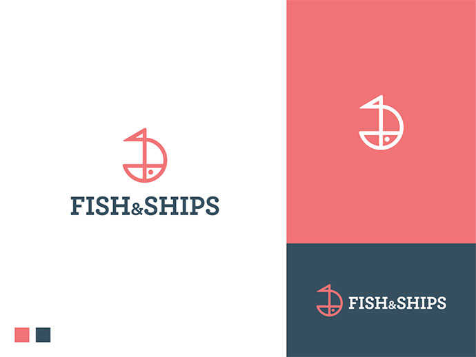 Fish And Ships Logo