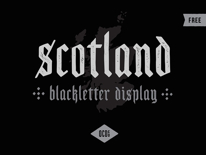Scotland - Free Old School Blackletter Display Font