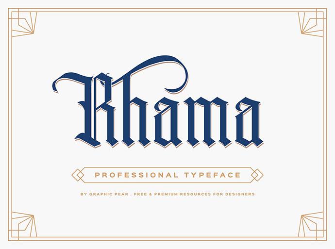 Rhama Gothic Typeface