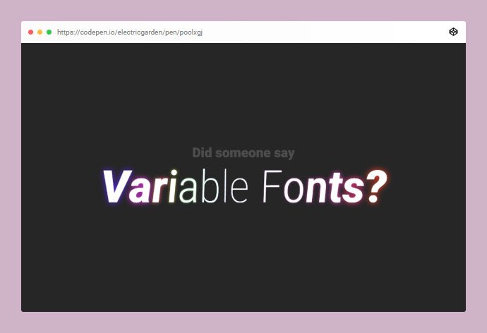 Variable Font Fun (CSS Animation Version)
