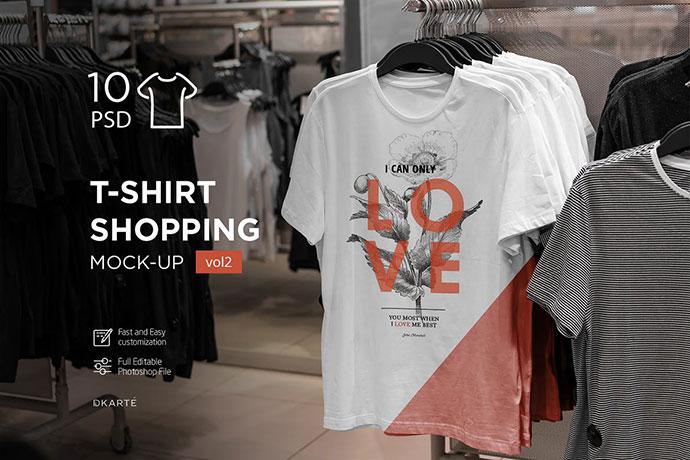 T-Shirt Shopping Mock-Up