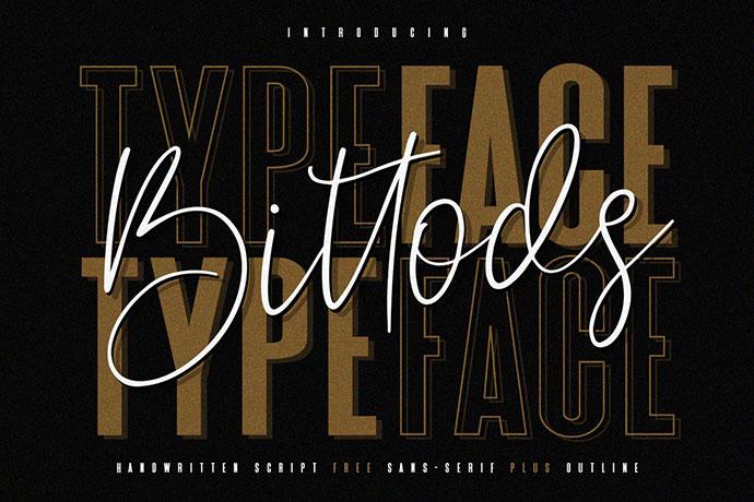 Bittods Handwritten Signature Font Free Sans Serif