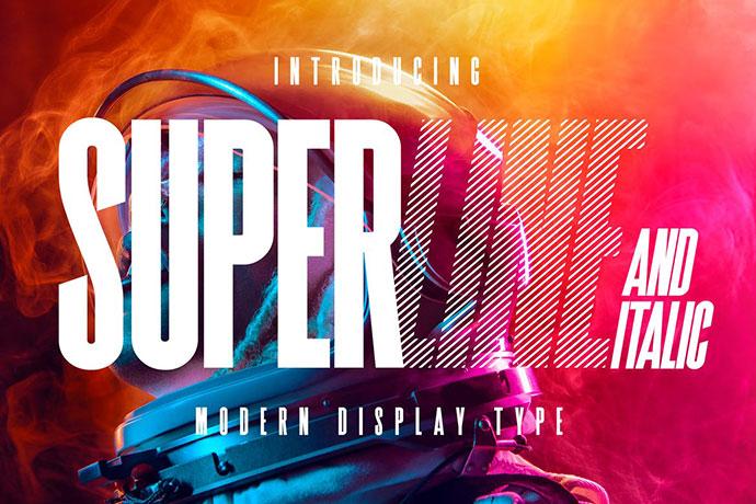 Superline Display Typeface