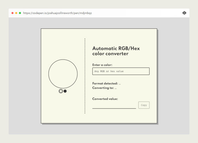 Hex/rgb Auto Color Converter In Vue
