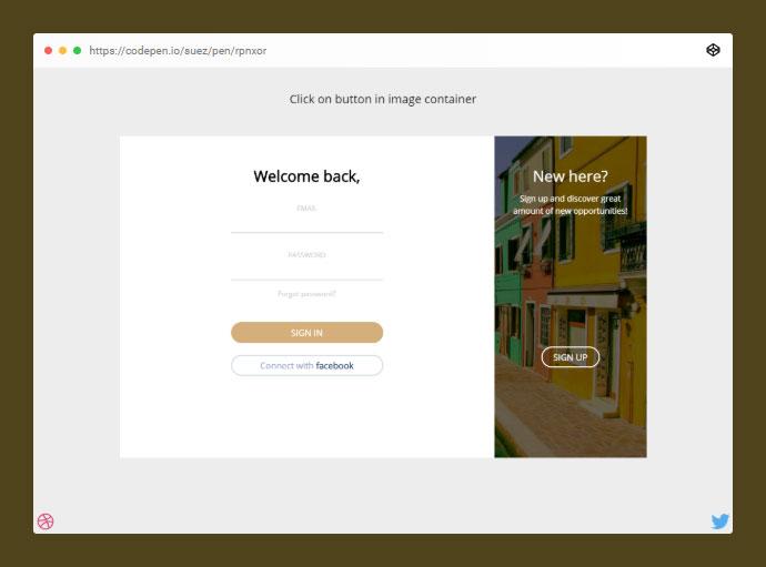 Login/registration Form Transition