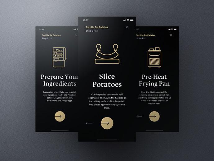 Sheek Food Ios Ui Kit Cooking Mode