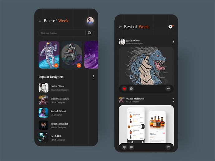 Design App (Dark Mode)