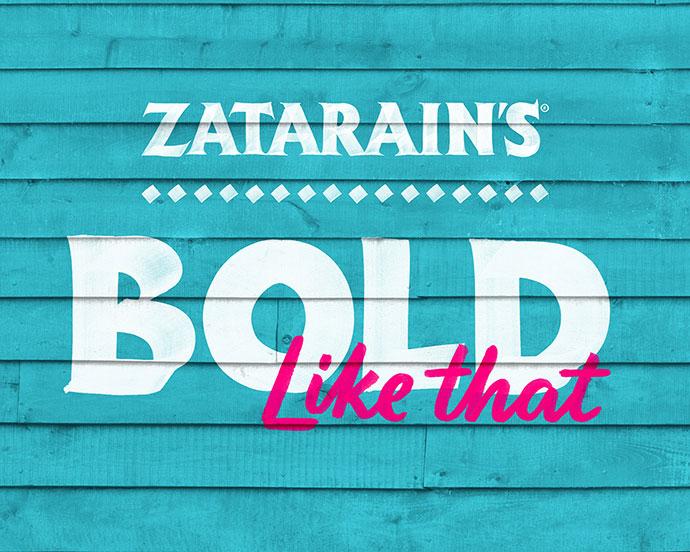 Zatarain's Hand Painted Letters