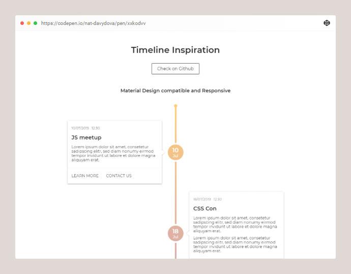 Timeline Inspiration